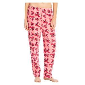 Leveret Pink Bulldog Dog Fleece Pajama Pants NWT